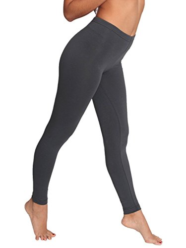 (American Apparel Women's Cotton Spandex Jersey Legging Size L Asphalt )