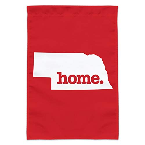 Nebraska Graphic - Graphics and More Nebraska NE Home State Solid Red Officially Licensed Garden Yard Flag (Pole Not Included)