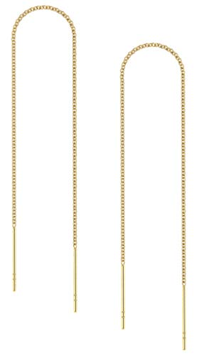 Benevolence LA - Gold Threader Earrings - Gold Earrings for Women Ear Chain Earrings String Earrings Threaders Gold Dangle Earrings Gold Drop Earrings - Celebrity Endorsed