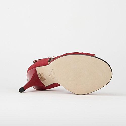 Rumpf Damen-Tangoschuhe, Wildleder, Abs. 7,5 cm Red