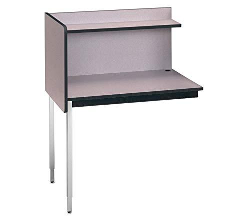 Wood & Style Furniture Fixed Ht. Single Modular Carrel Medium Oak/Oak Premium Office Home Durable Strong