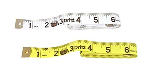 Dritz Vinyl Tape Measure with Metal Tip, 5/8 by 60 Inch (1 White, 1 Yellow)