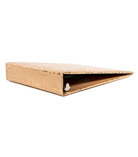 "American Crafts DCWV 8.5"" x 11"" 3-Ring Gold Foil Flower Binder - File Organization - Scrapbooking and Storage Essentials"
