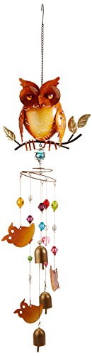 Red Carpet Studios Nature's Jewels Large Wind Chimes, Owl]()