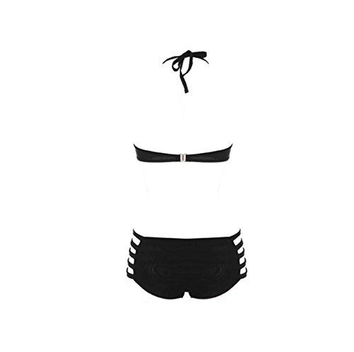 pengweitraje de baño del bikini de la cremallera Europa dividida venda triangular , s , black l