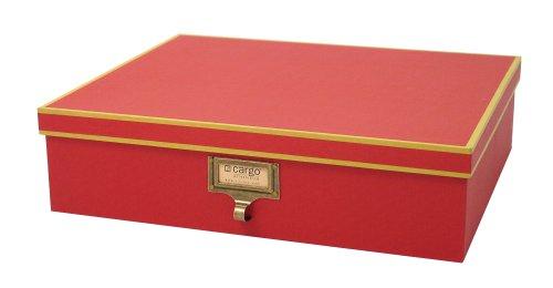 cargo Atheneum Document Box, Red, Set of (Cargo Office Box Set)
