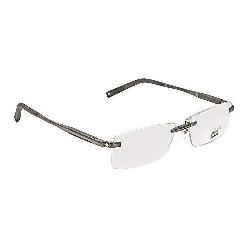 MontBlanc Men's MB0349 Rimless Metal Frames BLACK ()