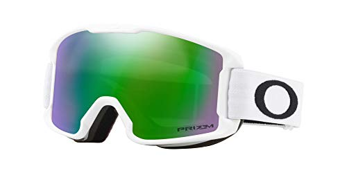 Oakley Line Miner Youth Snow Goggle, Matte White, Small, Prizm Jade Iridium Lens (Best Goggles For Snowboarding 2019)