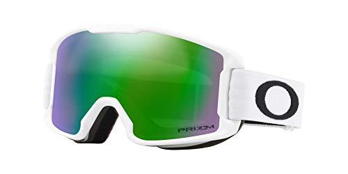 Oakley Line Miner Youth Snow Goggle, Matte White, Small, Prizm Jade Iridium ()