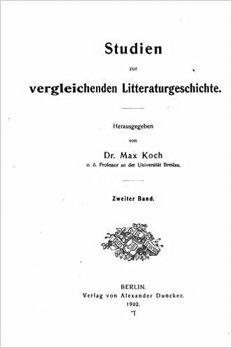 Livres électroniques gratuits téléchargeables Studien zur vergleichenden literaturgeschichte (German Edition) en français RTF