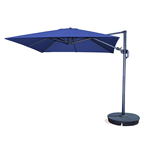 Cheap Blue Wave Products Island Umbrella Santorini II 10 ft. Square Cantilever Umbrella