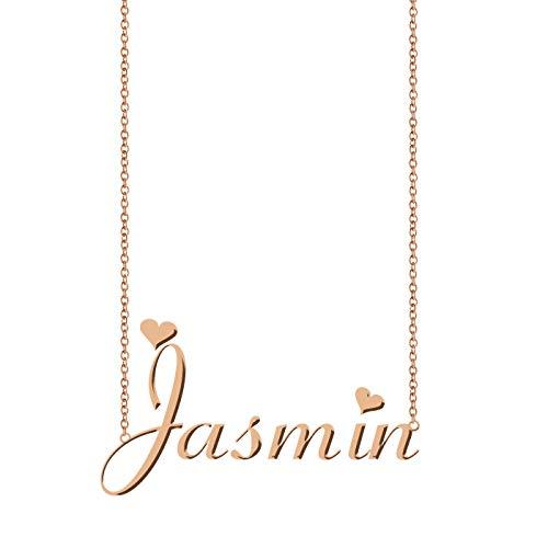 ZAloha Personalized My Any Name Necklace Jasmin (My Best Friends Girl Jasmine)