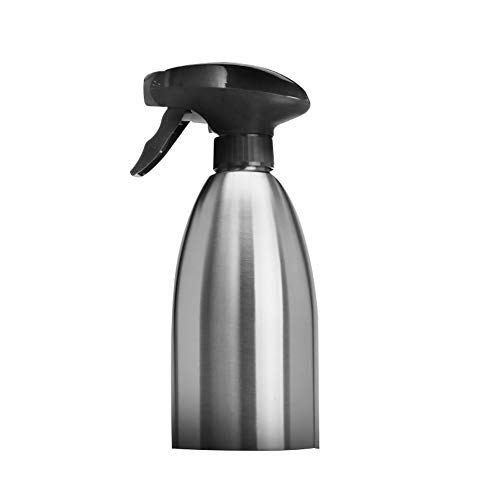 tianxiangjiaju 500ml Stainless Steel Fuel Injection Bottle Durable Soy Sauce Vinegar Injection Sprayer Kitchen Barbecue Tool Silver