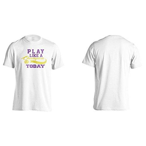 Spiel Wie Ein Champion Heute Volleyball Herren T-Shirt n682m