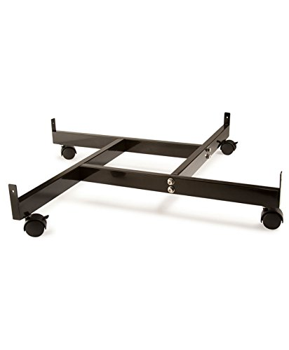 AMKO GPB/4BA 4-Way Base with Castor, Easy Movement, Black Finish - Heavy-Duty Casters with Pin Wheel Base. Grid Wall Accessories by AMKO Displays