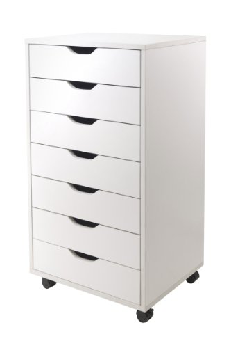 Winsome Halifax Cabinet for Closet/Office, 7 Drawers, White - 5 Drawer Storage