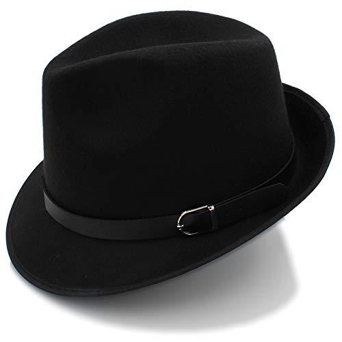 Negro de 58CM Sombreros Estilo Casual Sun Café de 56 Fedora británico Color de Invierno de Trilby otoño para Sombreros Ocasionales hats tamaño Sombreros Hombres de Sol Swwf5q4xE