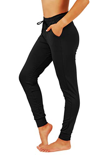 - Fit Division Women Premium Camo Joggers Yoga Pants Cotton Blend Casual Sweatpants (M, FDJR1/2S-BLK-SLD)