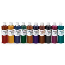 Nasco Set of 10 Classic Nasco Economy Washable Liquid Watercolors - SB39672