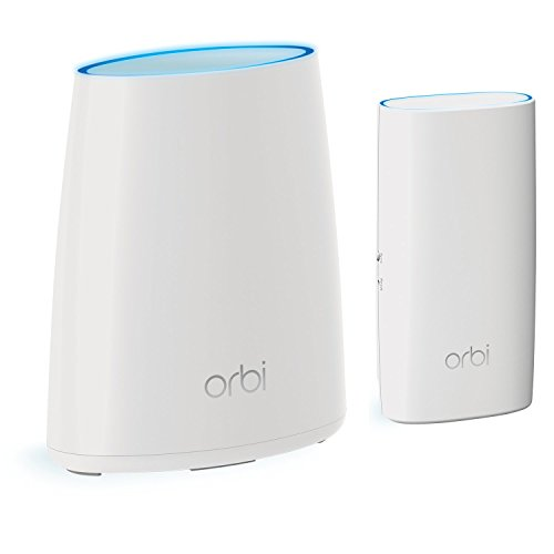 NETGEAR Orbi Home WiFi System: AC2200 Tri-Band Home Network - Router & Wall Plug Satellite. Up to 3,500sqft of WiFi Coverage (RBK30). Works with Amazon Alexa -  RBK30-100NAS