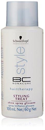 Bonacure Styling Treat - Schwarzkopf BC Bonacure Styling Treat Shine Spray Glissance for Unisex, 3.4 Ounce