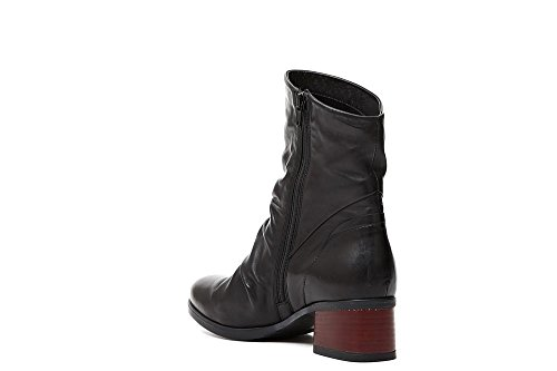 boots women NOIR CAF leather HD204 38 boot heel zip black aqZqPInwpW