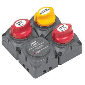(BEP Square Battery Distribution Cluster for Single Engine with Two Battery Banks)