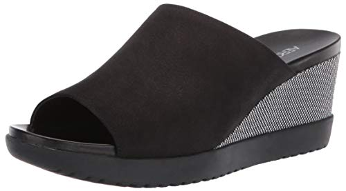 Aerosoles - Women's Blonde Wedge Sandal - Opened Toed Wedge Shoe with Memory Foam Footbed (7.5W - Black Nubuck)