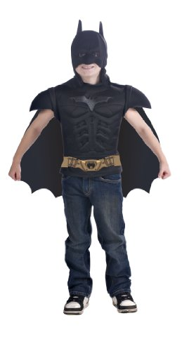 Batman The Dark Knight Rises Muscle Chest Costume Shirt with Cape and Mask -