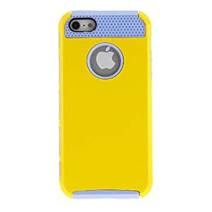 get Hybrid Rubber Rugged Combo Matte Soft Hard TPU Case Cover for iPhone 5/5S(Assorted Color) , Blue