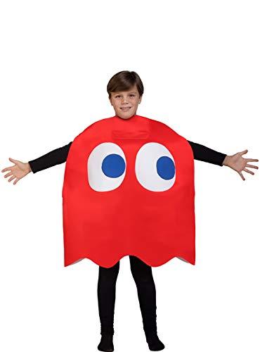 Funidelia Disfraz de Fantasma Pac-Man Blinky Infantil ...