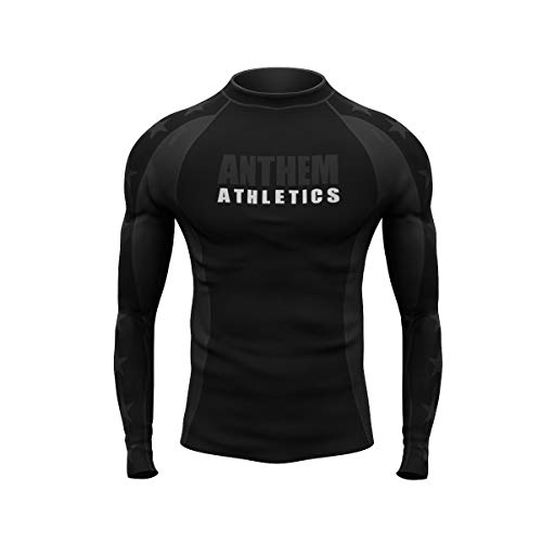 Anthem Athletics Midnight Ranked Competition Rash Guard Compression Shirt - BJJ (IBJJF Approved) & MMA