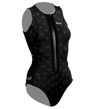 Cressi Ladies 2mm Thermic One-Piece Zip Up Swim Suit for All Water Sports  Swimming 18eb9f8b3