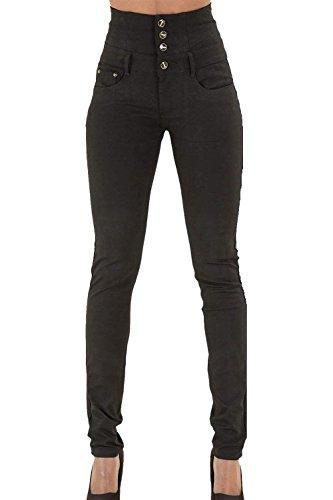 Bodycon Le Skinny Vita Yacun Alte Jeans Caviglia Black Donne 1ZqIdIY