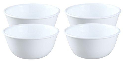 Corelle Livingware 12-Ounce Soup/Dessert-cup, Winter Frost White (4