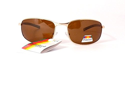 polarisantes 201304 Monture cityvision polarisés lunettes Verres femme soleil verres Or homme de Marron polarisées 6qgEq
