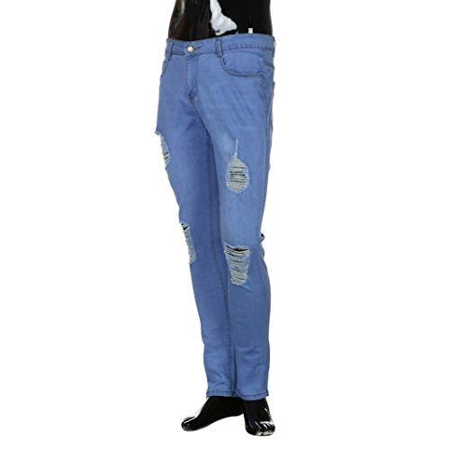 Pantaloni Bobo Estilo Jeans Pants Slim Colour Aderenti Strappato Attillati 88 Strappati Uomo Especial Dritti Denim 8qw8gr