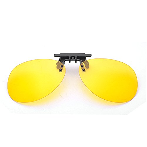 Clip On Sunglasses Men's Titanium Flexible Polarized Lenses Glasses Laura Fairy (C-Night vision, - Glares Online