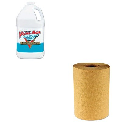 KITBWK6256RAC00294 - Value Kit - Professional VANI-SOL Bulk Disinfectant Bathroom Cleaner (RAC00294) and Boardwalk 6256 Natural Hardwound Roll Paper Towels, 8quot; x 800' (BWK6256)