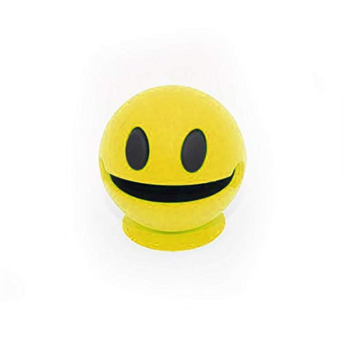 Price comparison product image Cyhulu Mini Bluetooth Speakers, Portable Waterproof Wireless,  Smiley Face Spearkers with 3W Power,  Mobile Phone Bluetooth Hands-free, Remote Control, Built-in Mic, Enjoy Shower,  Party (Yellow,  One size)