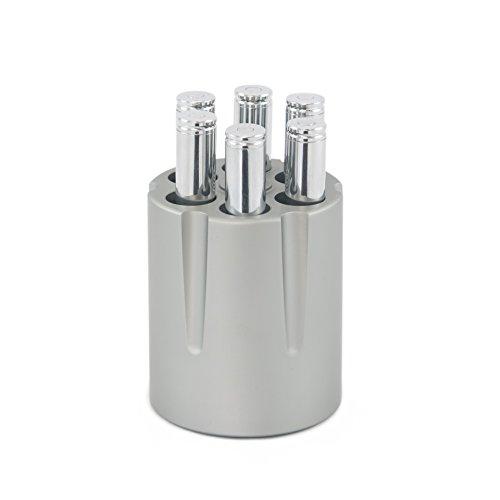 Revolver Cylinder Pen Holder - Holds up to 6 Pens - Brushed Aluminum - Heavyweight & Durable - Stylish Desk Accessory - Gun Lover's Gift (Holder Pen Stylish)