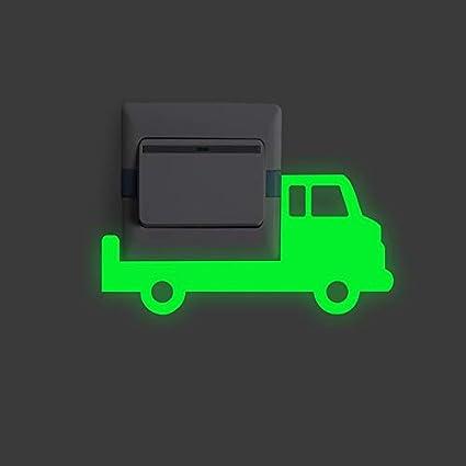 EWQHD 3PCS Lkw-Schalter Lichtpaneels Aufkleber Glow In The Dark Dekor-Ausgangsdekoration Zubehör Fluorescent Vinyl-Wandwand-K