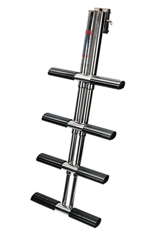 - Amarine-made Heavy Duty 4 Steps Boat Marine Dual Vertical Telescoping Tube Stainless Steel Sport Diver Ladder with Mount- 4 Steps - M1085S4
