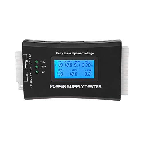 sara-u New LCD PC Computer 20/24 Pin 4 PSU ATX BTX ITX SATA HDD Power Supply Tester (Btx Power Supply)