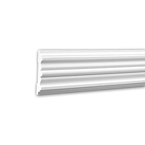 Panel Moulding 151310 Profhome Dado Rail Decorative Moulding Frieze Moulding Timeless Classic Design White 2 m ()