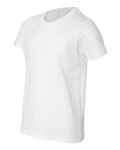 Bella-Canvas C3001Y Youth Jersey Short Sleeve Tee, White - Small