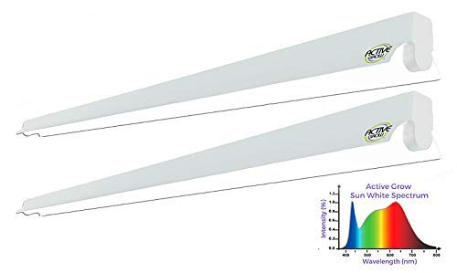 Active Grow T5 LED Strip Light Fixture for Propagation, Germination and Microgreens - 22 Watts - Sun White Full Spectrum (High CRI 95) - Linkable Up to 8 Units - 120V - UL Marked - 2-Pack ()