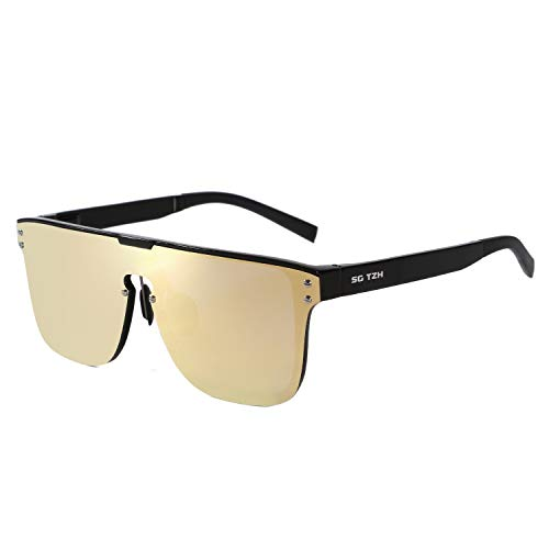 SG TZH Rimless Mirrored Sunglasses One Piece