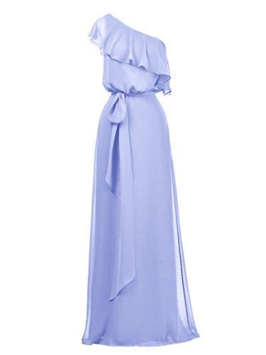 Alicepub De Lavande Robe De Soirée De Fête De Mariage De Longue Femmes Robe De Bal Robe De Demoiselle D'honneur En Mousseline De Soie