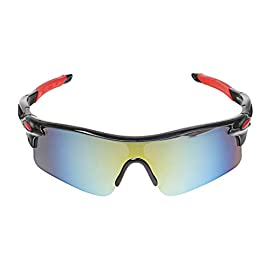 A-szcxtop Dazzle Colour Reflective Fashion Outdoor Sports Cycling Bicycle Bike Fishing Driving Sunglasses Eyewear Glasses for Men and Women